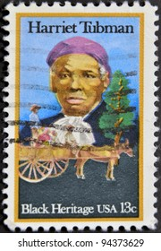 USA - CIRCA 1996 : stamp printed in USA show Harriet Tubman African-American abolitionist, humanitarian, black heritage, circa 1996