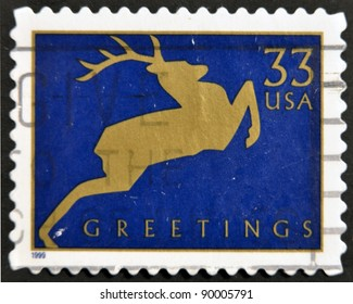 USA - CIRCA 1999: A stamp printed in USA shows image of the dedicated to the Greetings, circa 1999.