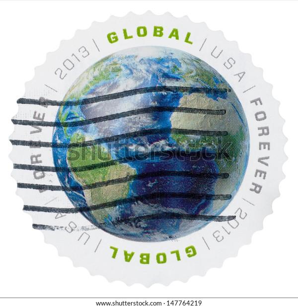 Usa Circa 2013 Us Postal Service Stock Image Download Now