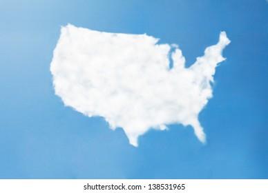 usa cloud map