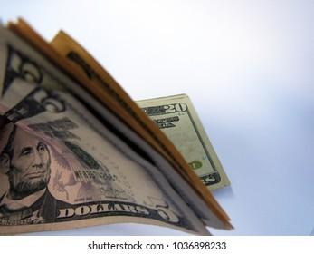 USA currency money dollar dolar dollars hundred five ten twenty