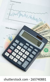 USA dollar money banknotes, pen and calculator, money concept, business workplace