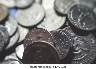 USA dollars  and cents background