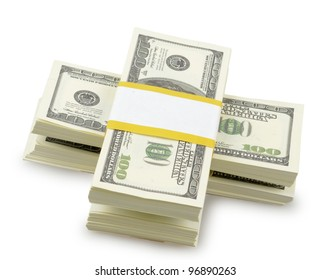 USA dollars isolated on a white background