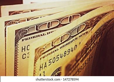 USA dollars. Macro image.