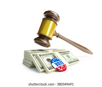 USA elections in 2016 criminal penalties for bribing voters.3d Illustrations