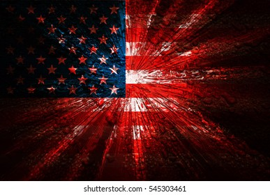 USA flag abstract background