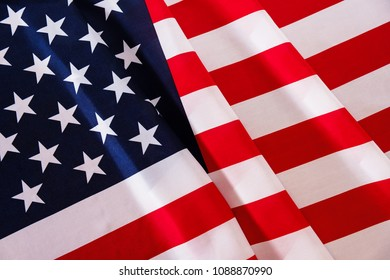 USA flag abstract patriotic american background close up