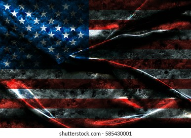 USA flag background
