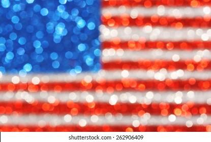 USA flag background - sparkly glittery background