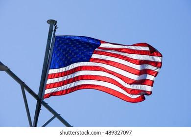 USA flag, California