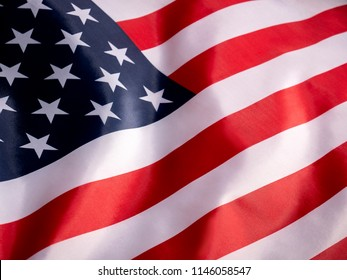 USA Flag close up