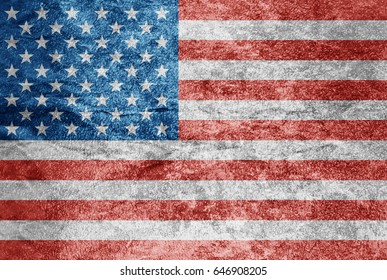 USA flag crumpled paper