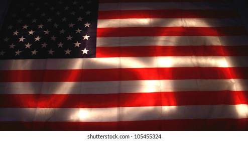 USA flag as dark background