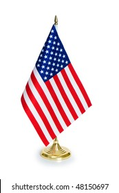 USA flag isolated on the white background