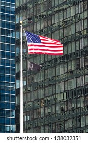 USA flag in New York.