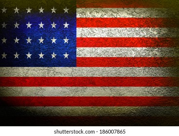 USA flag on a grunge background