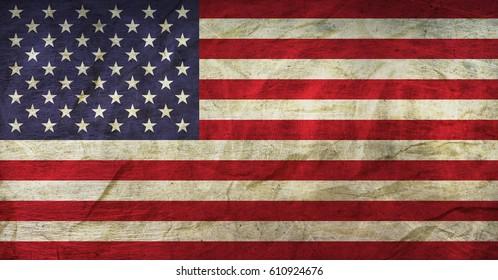USA Flag on Paper