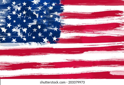USA flag painted
