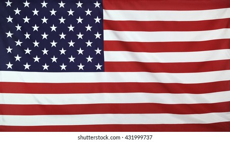USA Flag real fabric seamless close up