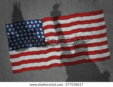 Usa Flag Real Meaning Liberty Freedom Stock Photo Edit Now