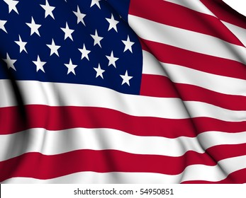 USA flag render