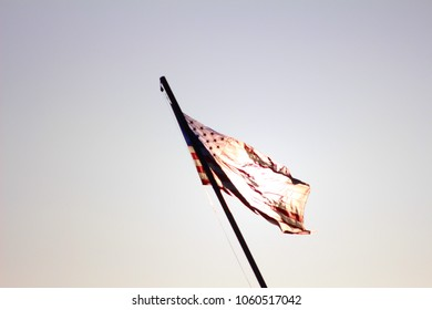USA Flag in sunlight.