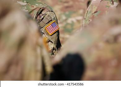 USA flag and US Army