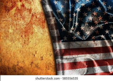 Usa flag vintage background
