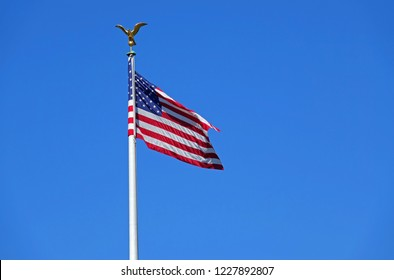 USA Flag in Wind
