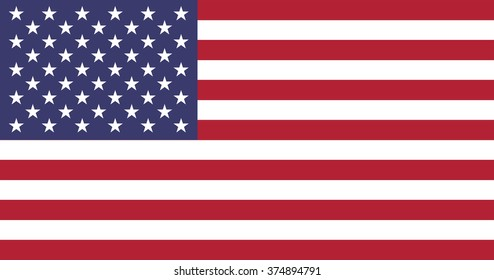 USA flag.High quality render. Isolated on white. Clipping path is included.