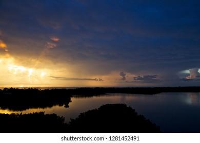 USA, Florida, Clam Bay Storm.