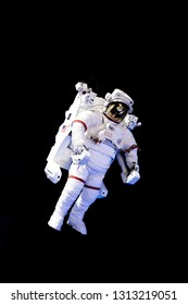 USA. FLORIDA. KENNEDY SPACE CENTER 2019: Astronaut in a spacesuit