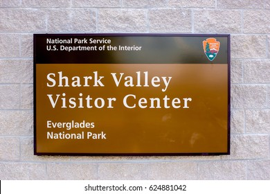 USA. FLORIDA. MIAMI. APRIL,2017: Everglades National Park, Shark Valley, Visitor Center.