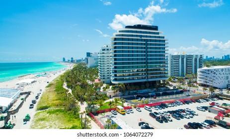 USA. FLORIDA. MIAMI BEACH. APRIL 2018: Faena hotel-resort in South Beach.
