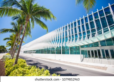 USA. FLORIDA. MIAMI BEACH. APRIL 2018: New Miami Beach Convention Center.