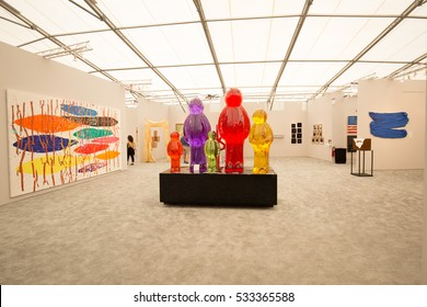 USA, Florida, Miami Beach, December 3, 2016. Art Basel week. Biggest art exhibition in the world. Editorial use only