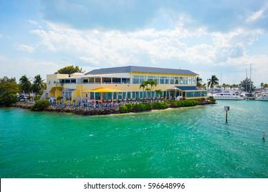 USA. FLORIDA. MIAMI. FEBRUARY 17, 2017: Miami International Boat Show. Downtown Miami, Key Biscayne.