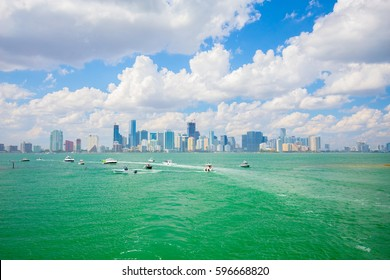 USA. FLORIDA. MIAMI. FEBRUARY 17, 2017: Miami International Boat Show. Downtown Miami, Key Biscayne.