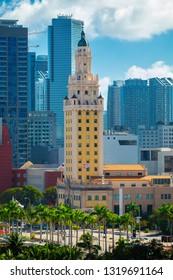 USA. FLORIDA. MIAMI. FEBRUARY 2019: View of downtown Miami.