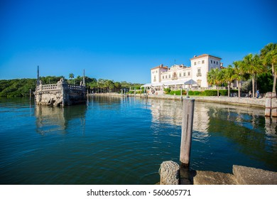 USA. FLORIDA. MIAMI. JANUARY - 10, 2017: VILLA VIZCAYA.