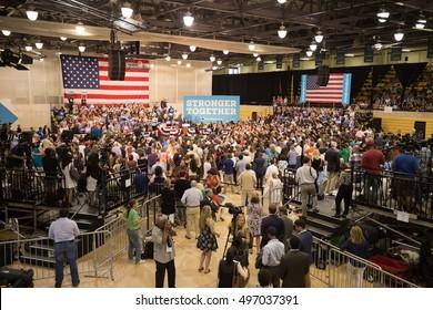 USA, FLORIDA, OCTOBER - 11, 2016: Hillary Clinton Miami Dade College. Al Gore. Editorial only.