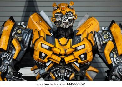 USA. FLORIDA. ORLANDO. JULY 2019: Transformer model Bumble bee.
