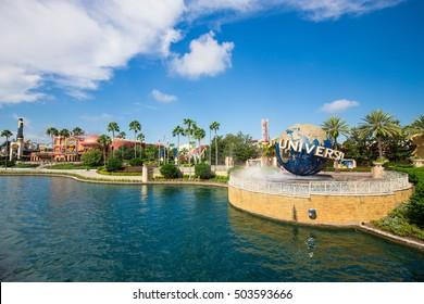 USA, FLORIDA, ORLANDO. OCTOBER 01, 2016: Universal studios city walk. Editorial use only.