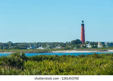 USA, Florida, Ponce Inlet, Ponce de Leon Inlet Lighthouse, Indian River Lagoon.