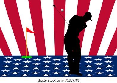 The USA golf team sign