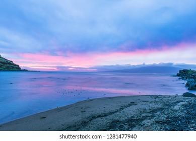 USA, Hawaii, Molokai, Sunrise