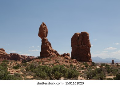 in USA inside the arches national  park the beauty of amazing nature tourist destination