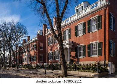 USA, Massachusetts, Nantucket Island. Nantucket Town, Main Street, historic house detail.