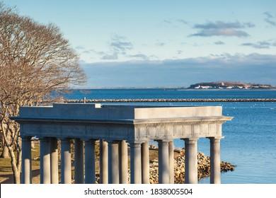 USA, Massachusetts, Plymouth. Plymouth Rock pavilion.